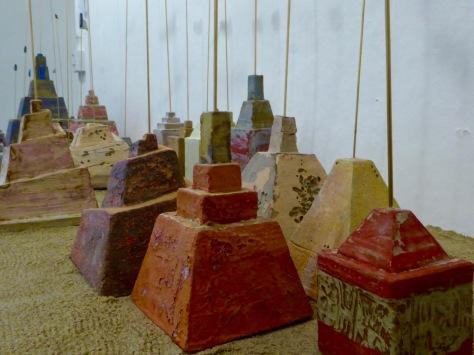 colourful ziggurats