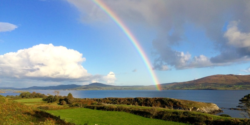 rainbow over mizen from Sheep's Head