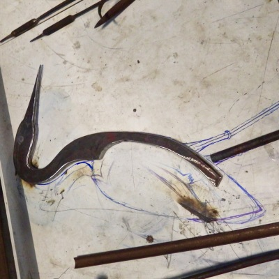 making a heron