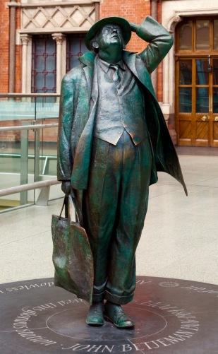St Pancras statue Christoph Braun
