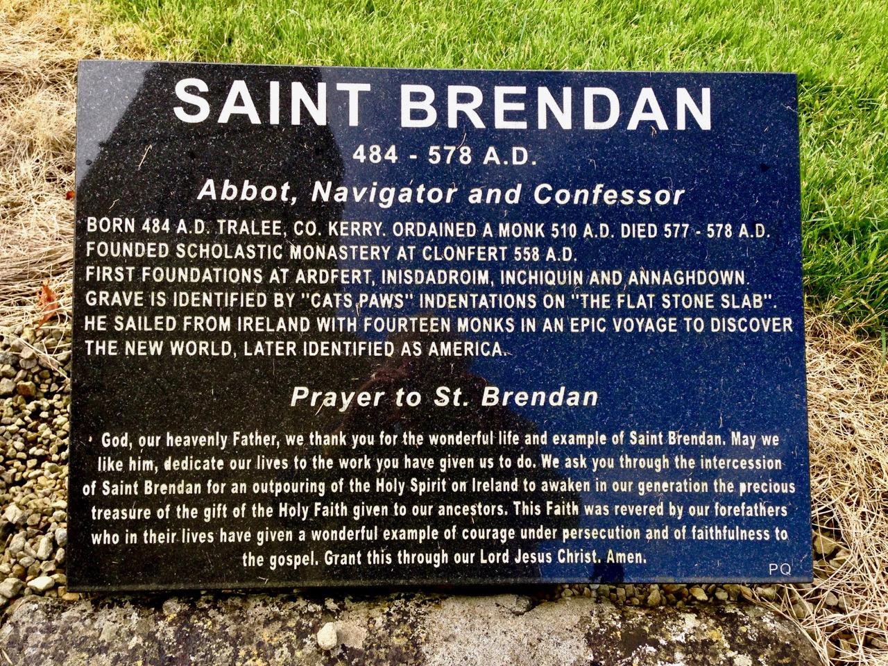 st brendan's grave inscription