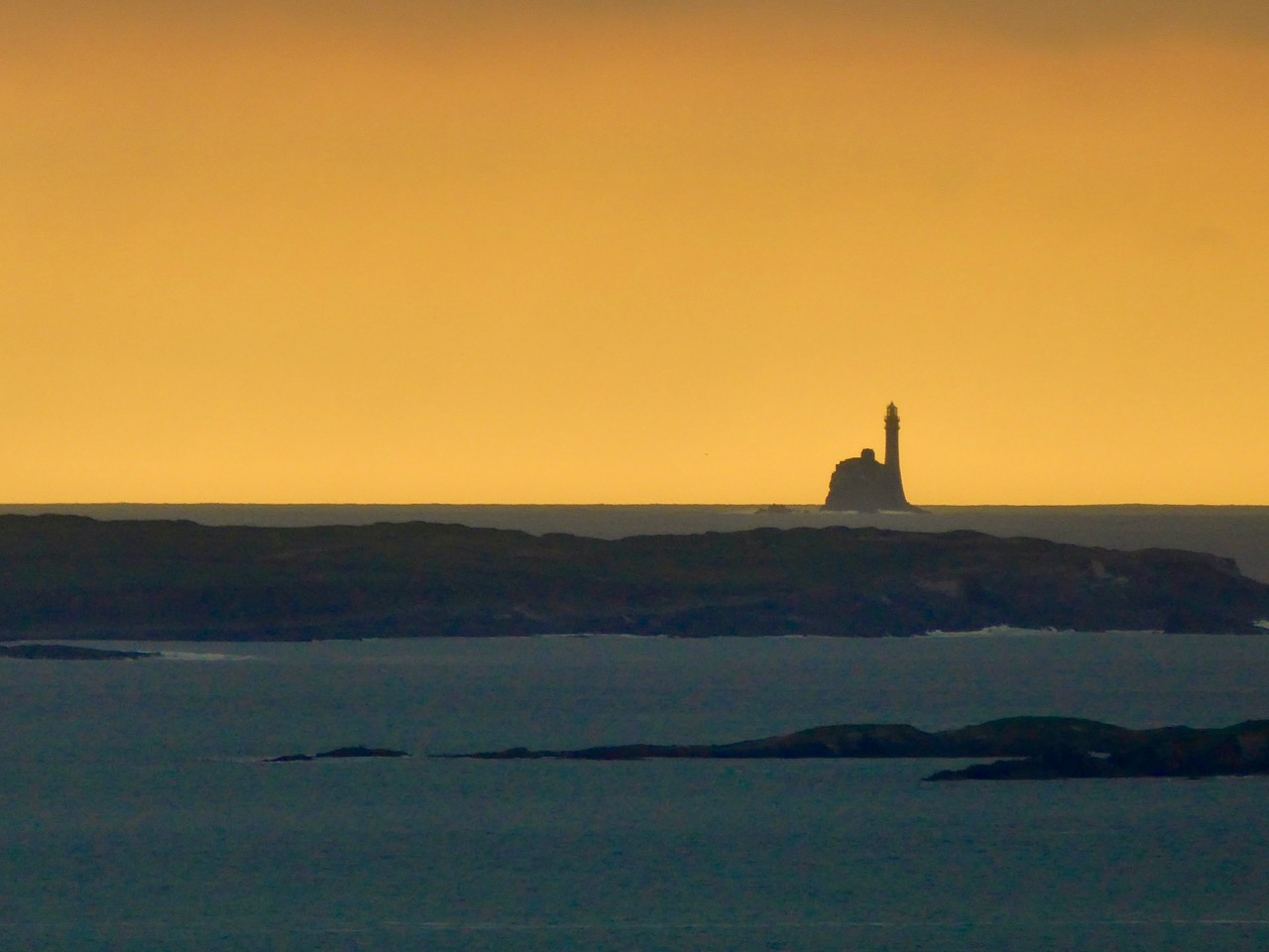 Fastnet in the sunset