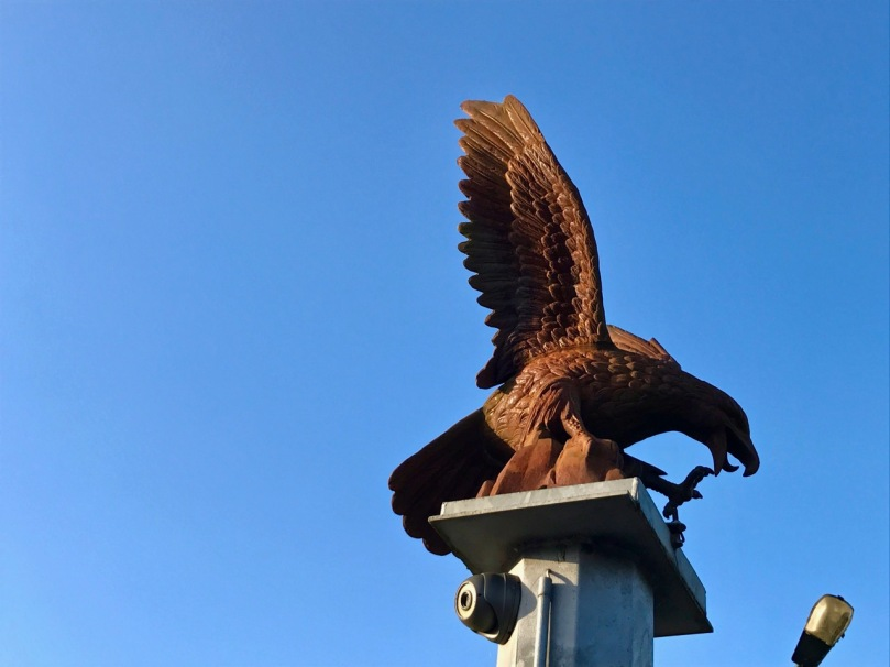 eagle on post 2