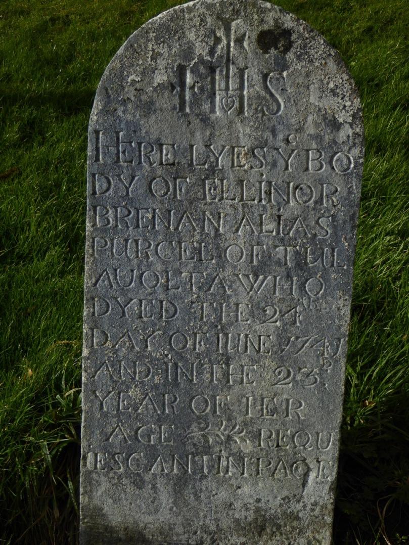 Grangefertagh 1741 graveslab