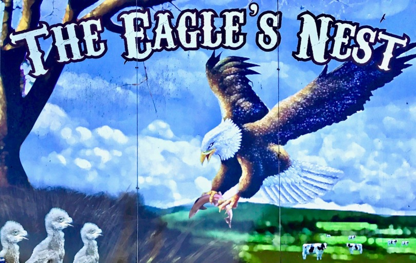 large eagle's nest sign