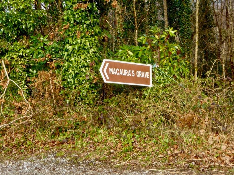 Macaura's Grave signpost