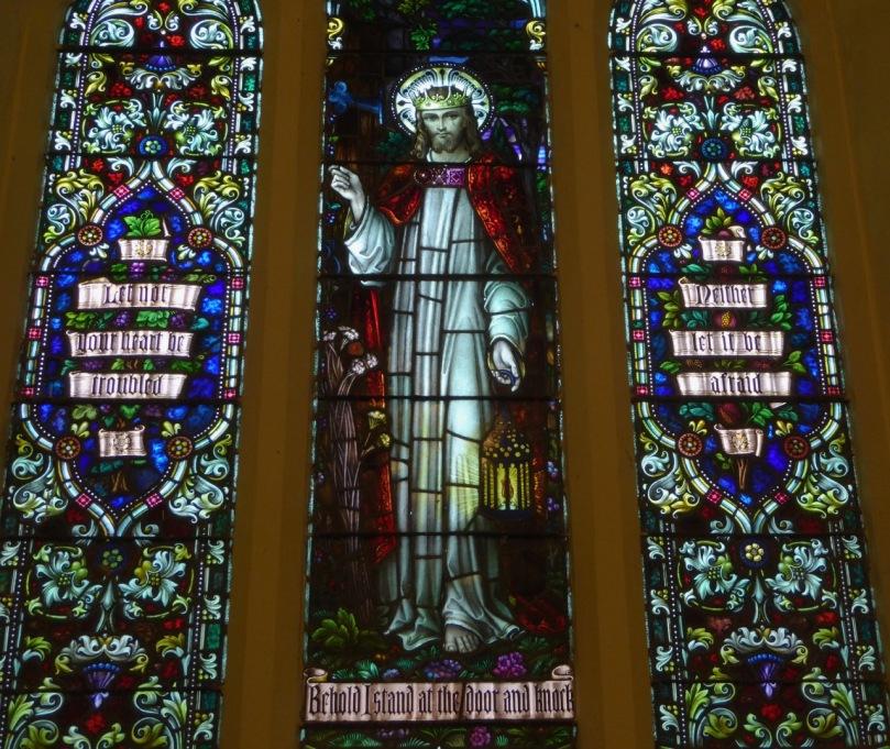 St Matthias Light of the World by Clokey of Belfast 1945