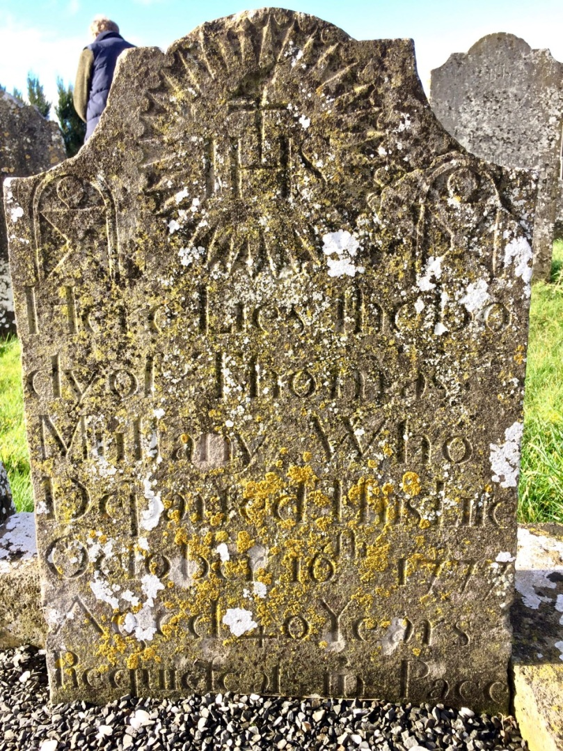 Two Mile Borris 1777 gravestone