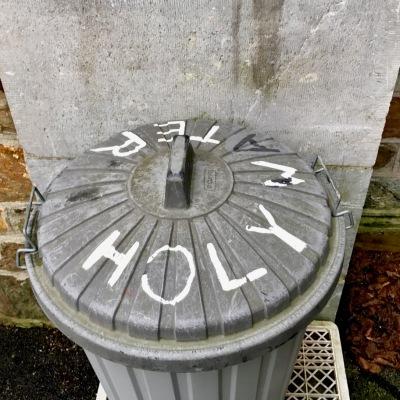 holy water bin