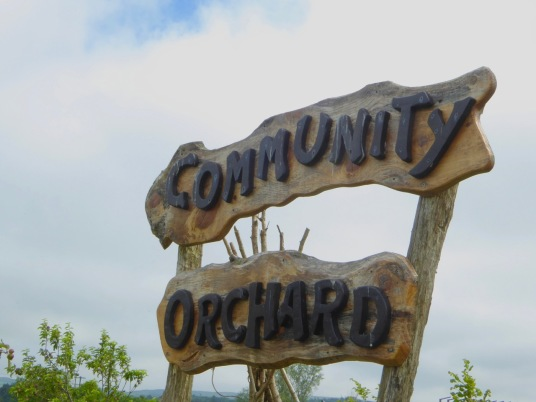 Community Orchard Sign
