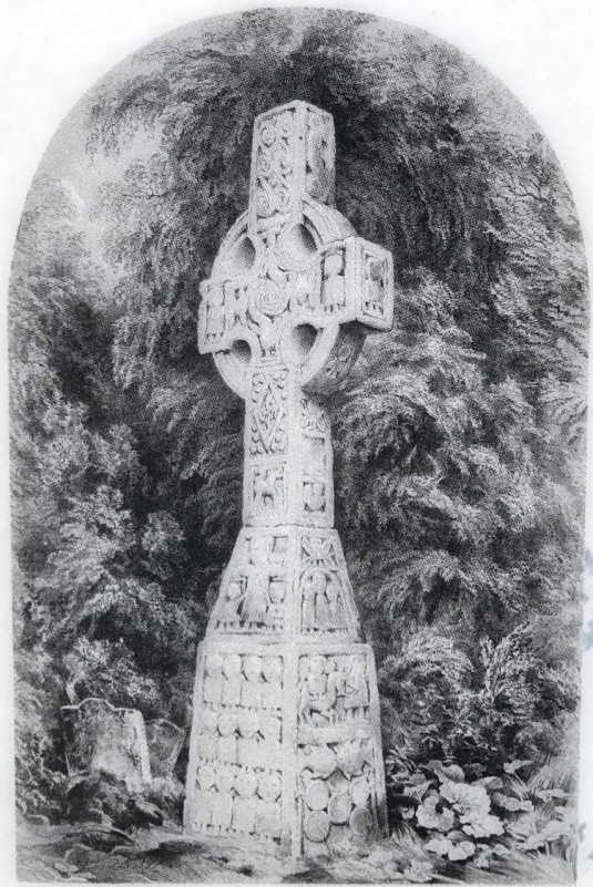 Moone Cross engraving