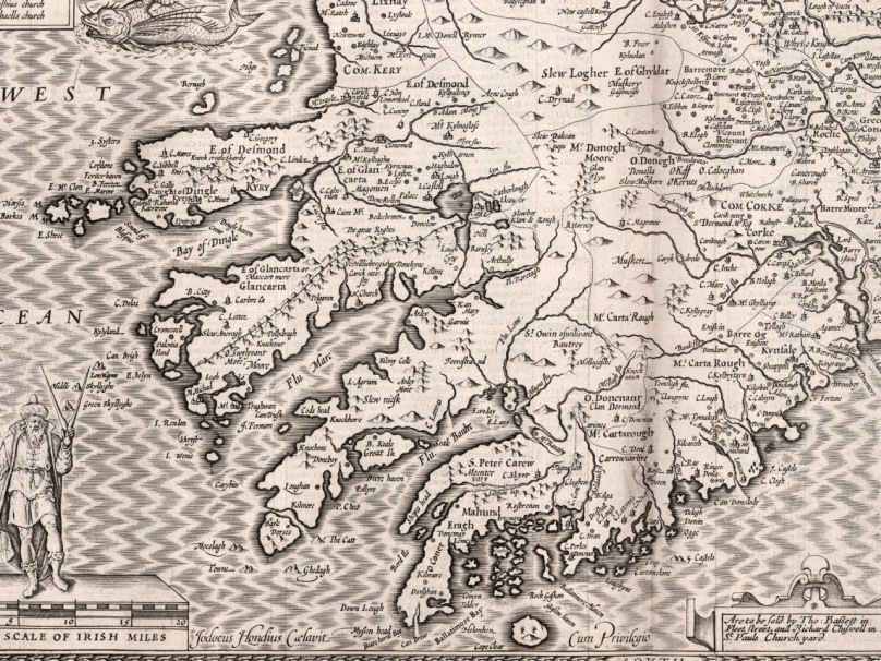 John Speed Map Of Ireland.Mapping West Cork Part 2 John Speed Roaringwater Journal