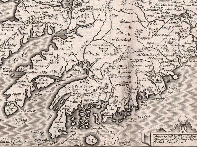 John Speed Map Of Ireland.Old Irish Maps Roaringwater Journal